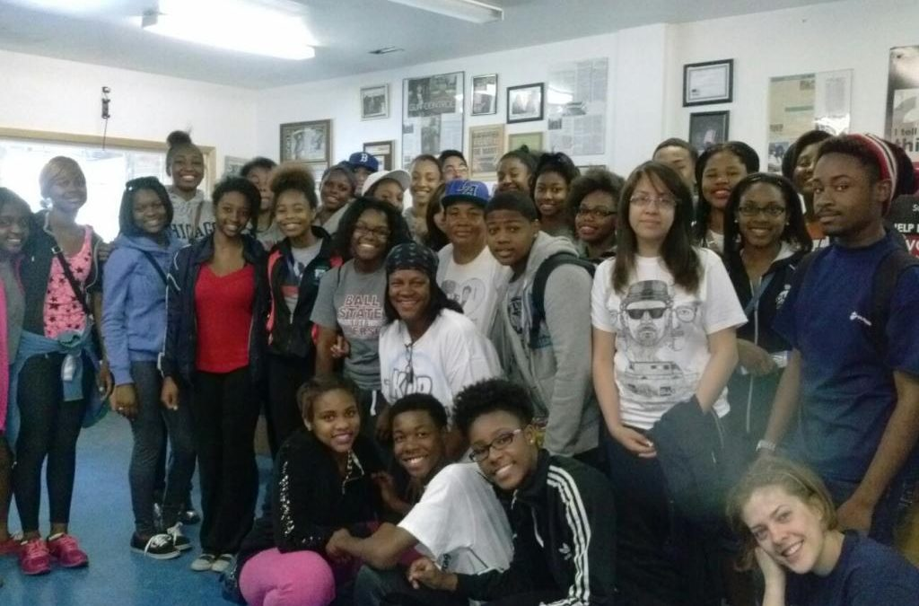 Gwendolyn Brooks College Prep Students & Kids Off The Block Clean Up The Community!