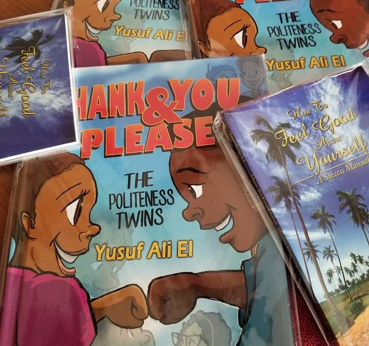 "Author Yusuf Ali El Donates His Books ""Thank You & Please"" To Kids Off The Block"